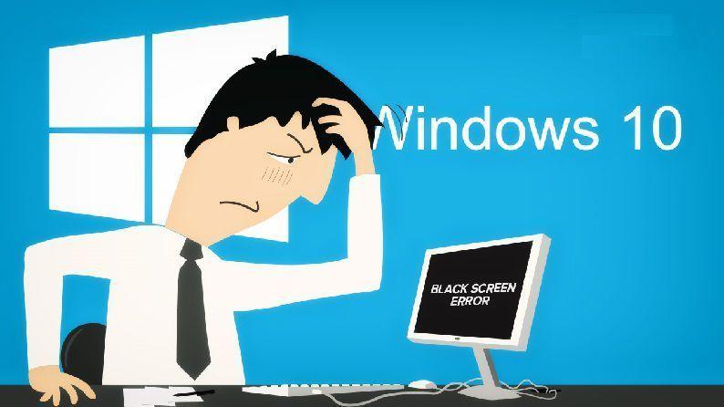 Black screen before login following Windows 10