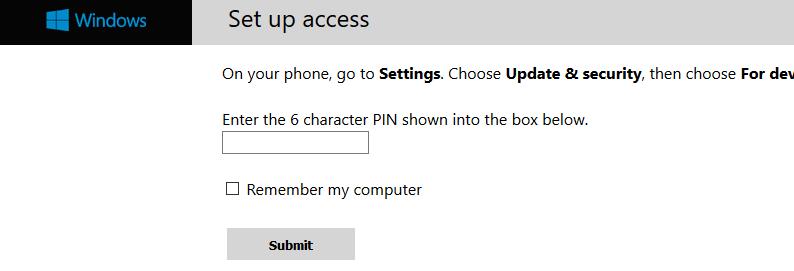 Pair Windows 10 Mobile