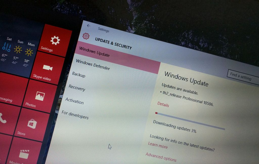 Windows 10 build 10586 for PC