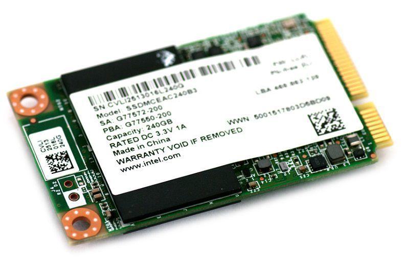 mSATA Intel SSD 525