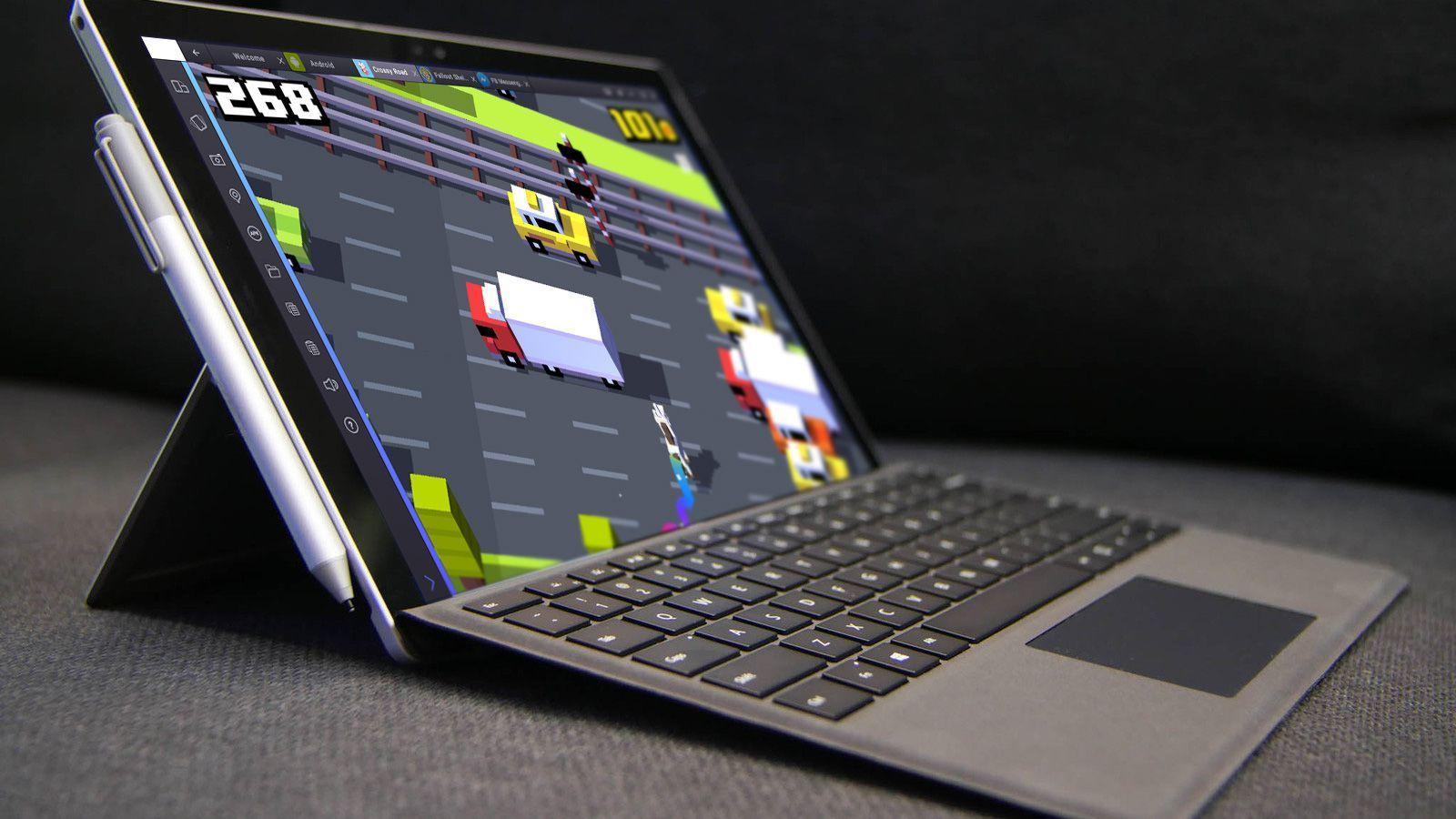 Surface Pro 4 Running BlueStacks 2