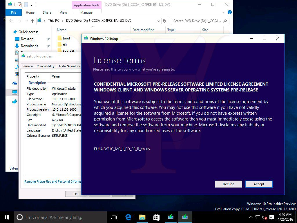 Windows 10 build 11103