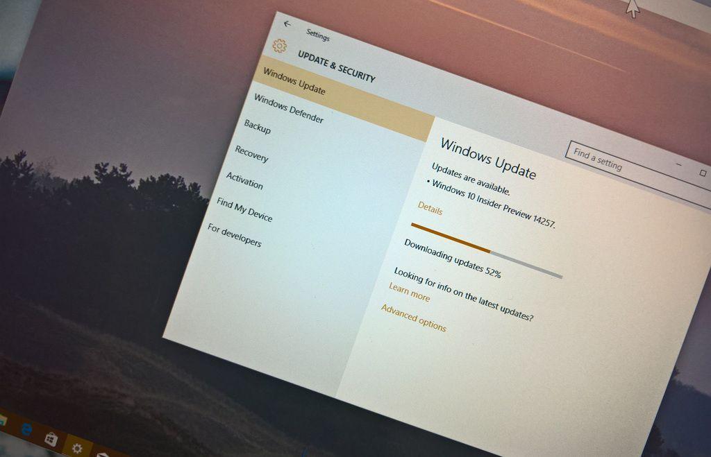 Windows 10 Redstone build 14257