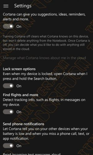 Cortana Windows 10 Mobile New Features
