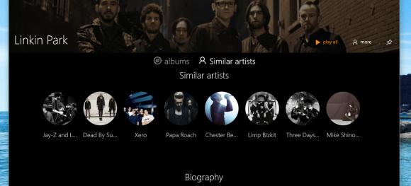 ArtistPageBioDark