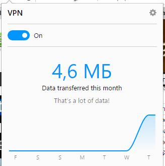 Opera Built-in VPN Client
