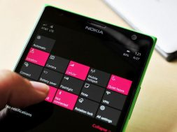 Quick Actions Windows 10 Mobile