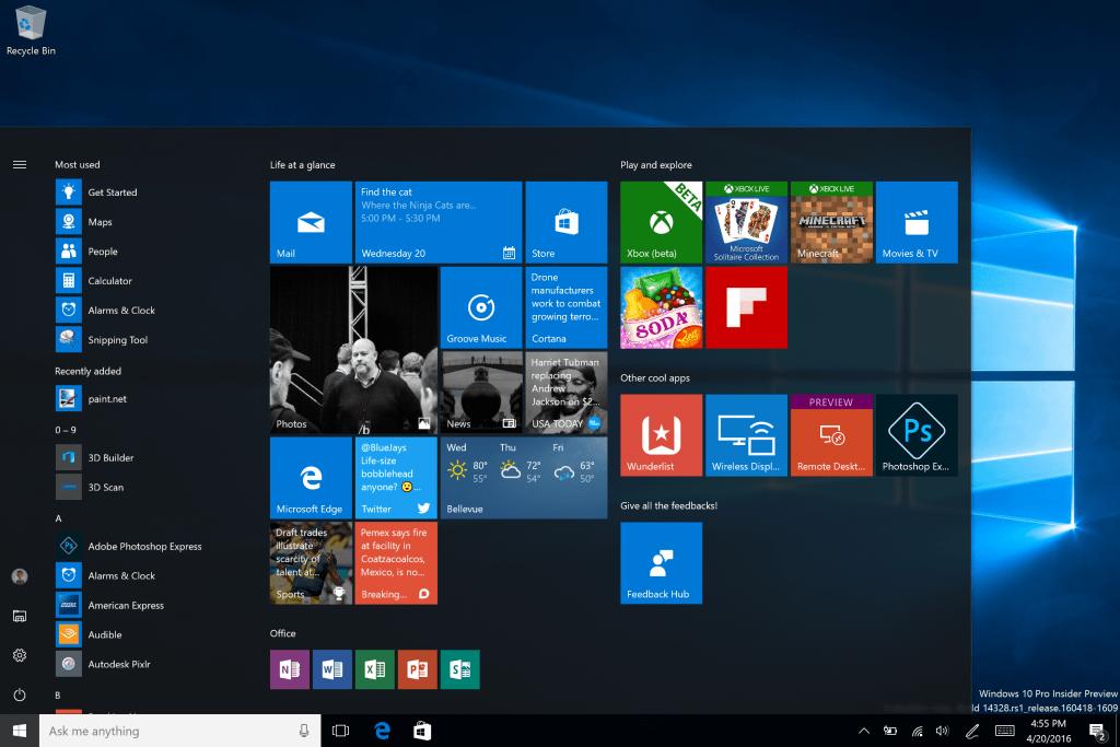 Updated Start Windows 10