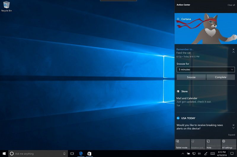 Microsoft выпустила Windows 10 Insider Preview Build 14352