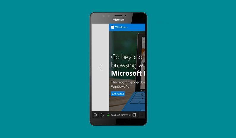 Microsoft Edge Swipe
