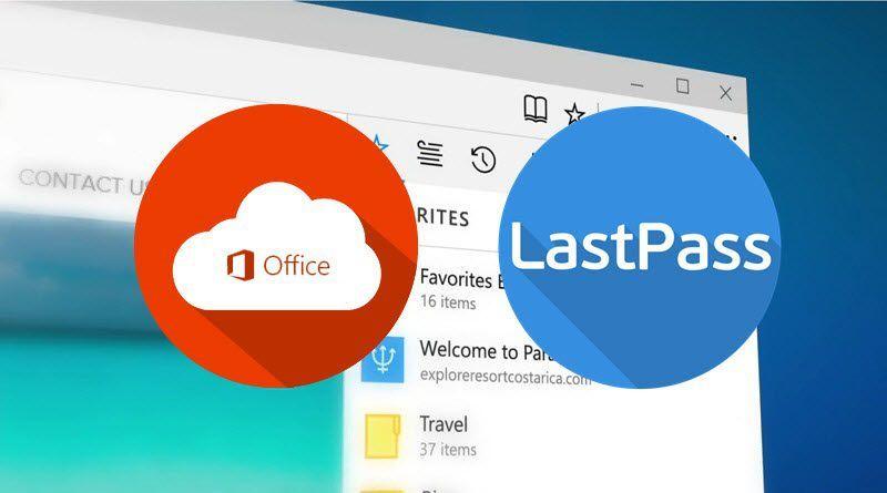 Для Microsoft Edge выпущены расширения Office Online и LastPass