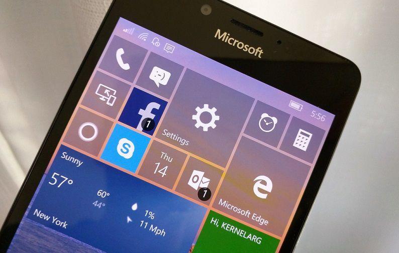 Microsoft выпустила Windows 10 Mobile build 14342