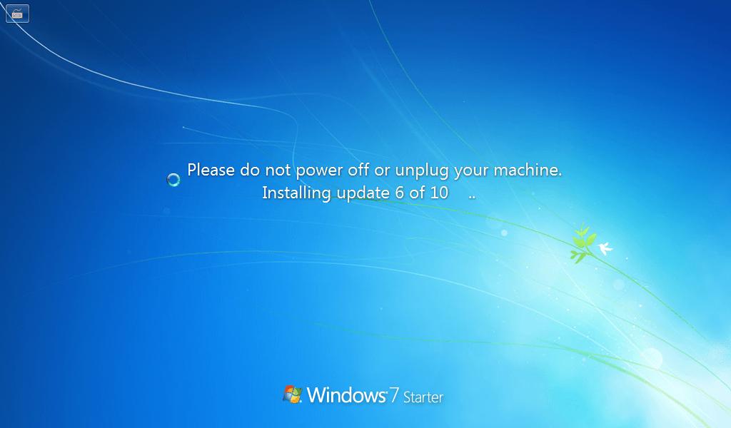 Windows 7 Update Installing