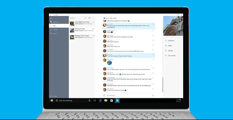 Приложение GroupMe обзавелось версией для компьютеров с Windows 10