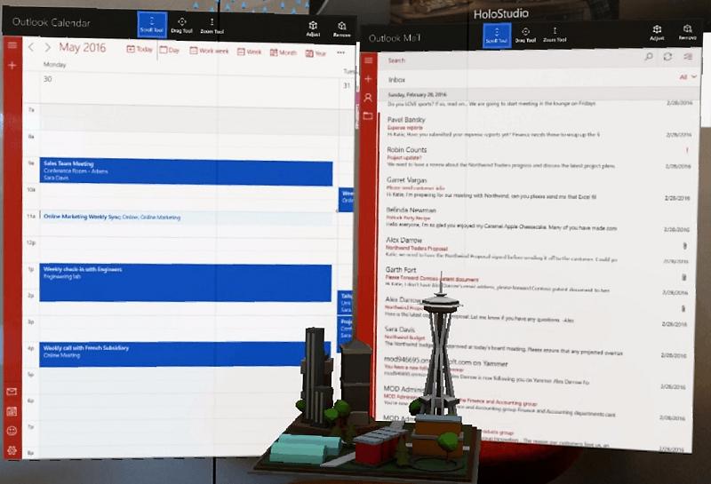 Microsoft выпустила приложения «Почта» и «Календарь» для HoloLens