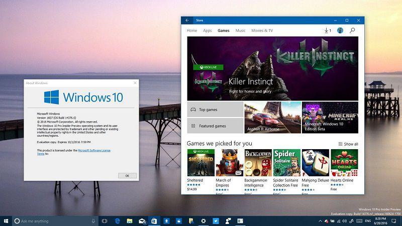 Для компьютеров и смартфонов доступна новая сборка Windows 10 Insider Preview Build 14376