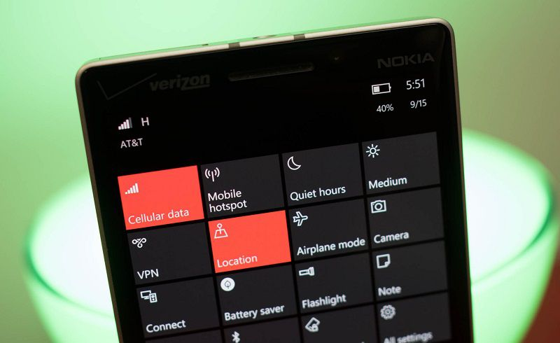 Microsoft готовит редизайн Центра уведомлений в Windows 10 Mobile