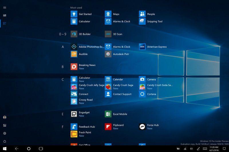 В Fast Ring cостоялся релиз Windows 10 Insider Preview Build 14385 для ПК и смартфонов