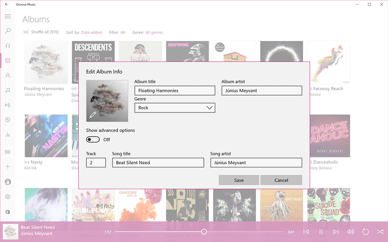 Приложение «Музыка Groove» получило редактор ID3-тегов