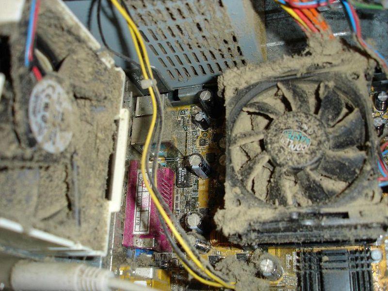 Очистка системного блока от пыли и грязи