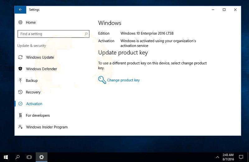 Windows 10 Enterprise LTSB 2016 будет выпущена 1 октября