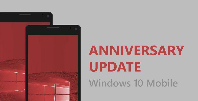 Обновление Windows 10 Mobile Anniversary наконец-то доступно