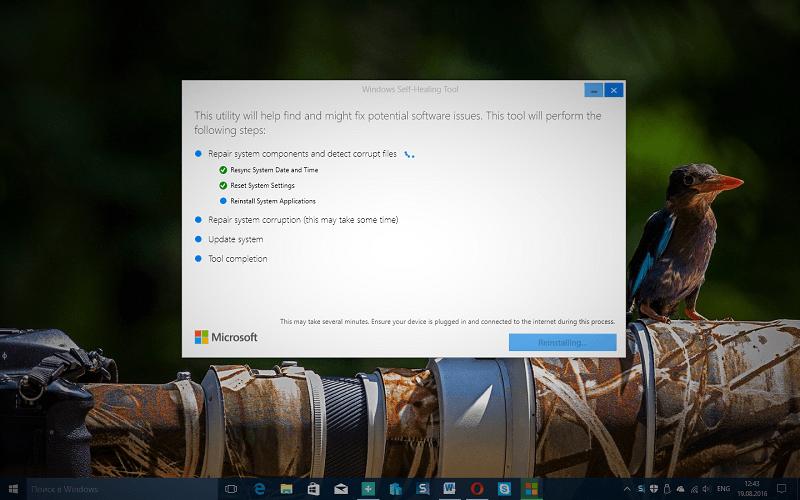 Microsoft выпускает Windows Self-Healing, новый инструмент для устранения неполадок Windows 10