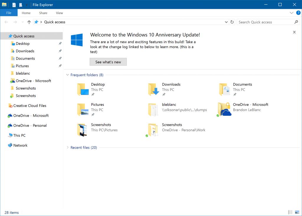 В Windows 10 Creators Update Microsoft будет рекламировать свои продукты прямо в Проводнике