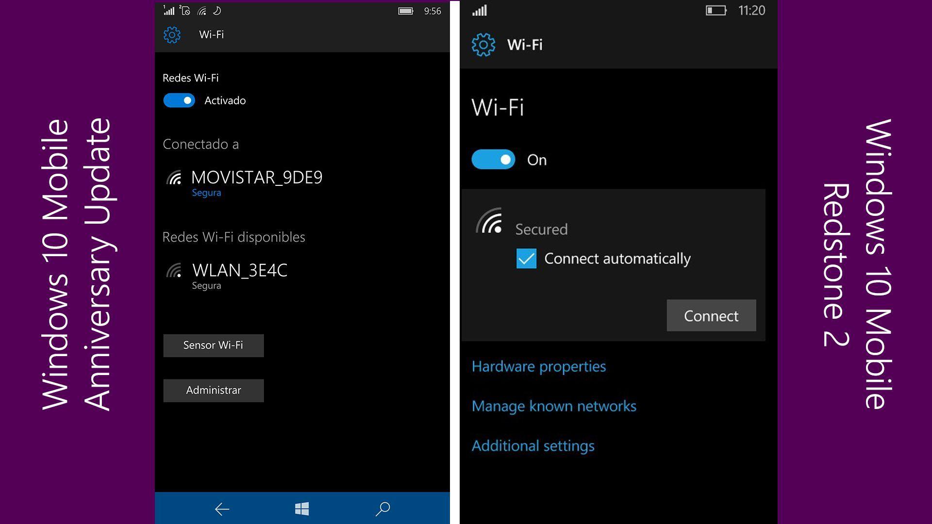 Microsoft переработает интерфейс настроек Wi-Fi в Windows 10 Mobile Redstone 2