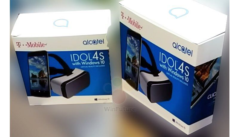 В сети появилась фотография упаковки Alcatel Idol 4S with Windows 10