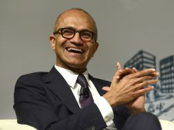 CEO Of Microsoft Satya Nadella Gives Lecture At Tsinghua University