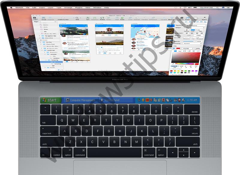 Touch Bar в новом Apple MacBook Pro поддерживает Windows