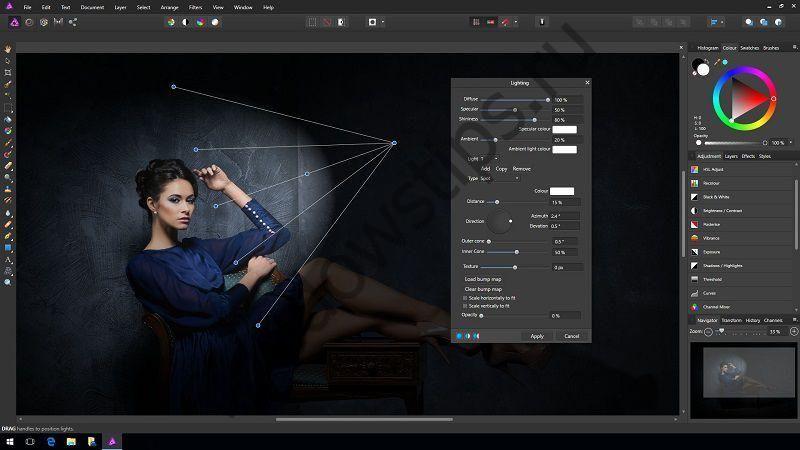 Популярный редактор изображений Affinity Photo получил версию для Windows