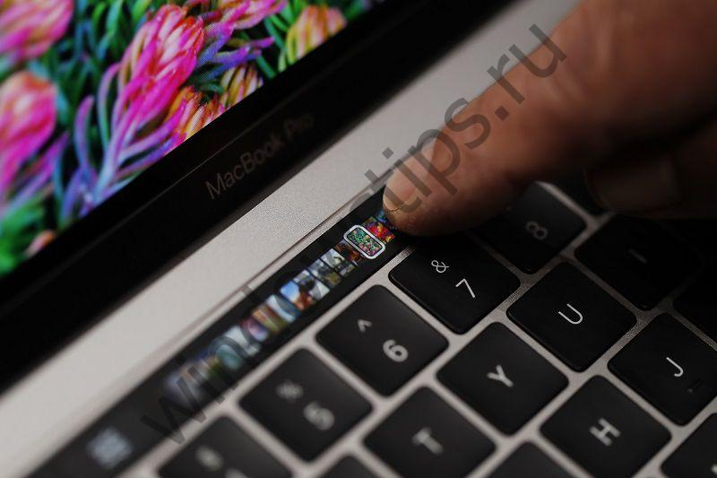 Touch Bar в новом Apple MacBook Pro 2016