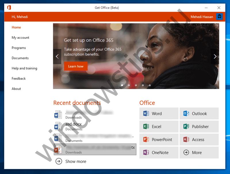 Пользователям ознакомительных версий Windows 10 Creators Update доступно новое приложение Office Hub