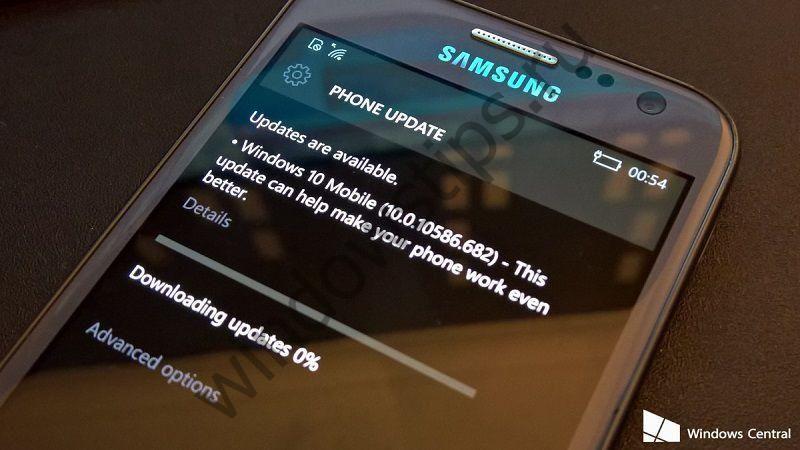 Для смартфонов, оставшихся без обновления Anniversary Update, выпущена сборка 10586.682