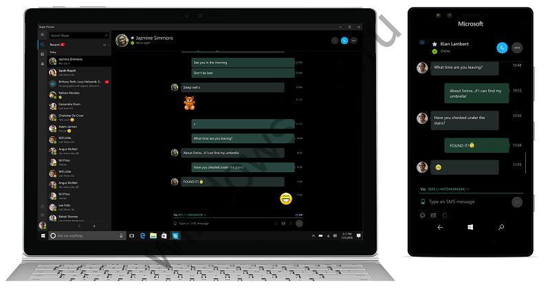Универсальное приложение Skype получило новые функции, в том числе «SMS-реле»