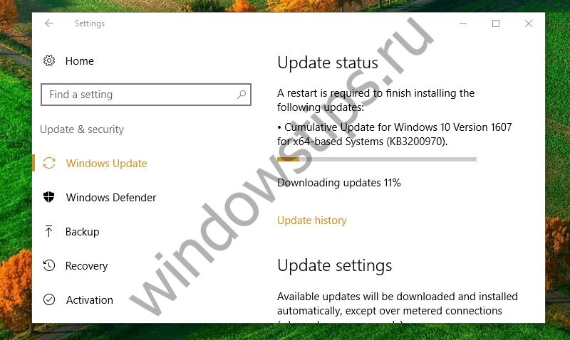 [Новость обновлена] Для Windows 10 и версии 1607 вышло накопительное обновление KB3200970 (14393.447)