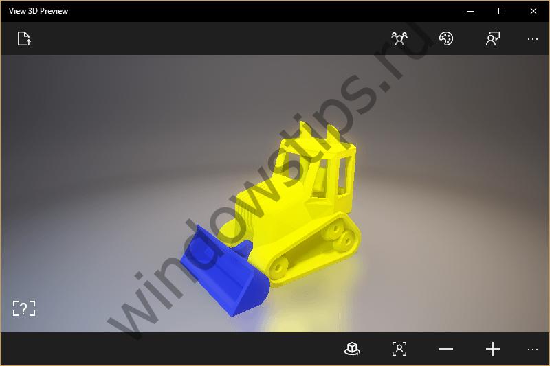 Microsoft выпустила приложение View 3D Preview для просмотра 3D-моделей на ПК и смартфонах