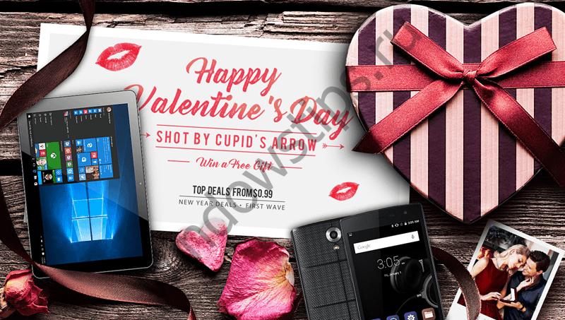 Смартфоны и планшеты со скидкой в День Святого Валентина от GearBest