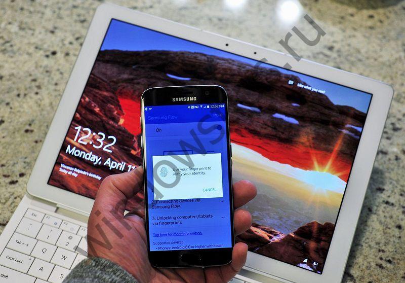 Приложение Samsung Flow будет работать с любым ПК под управлением Windows 10
