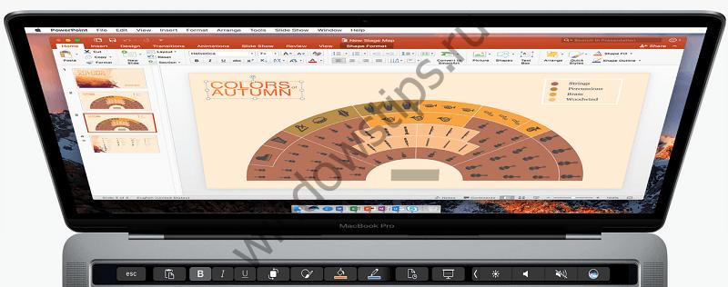 В предварительной версии Microsoft Office для Mac появилась поддержка Touch Bar