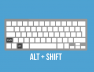 Alt+Shift