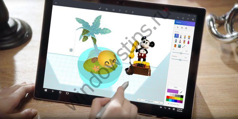 Универсальное приложение Paint 3D в составе Windows 10 Creators Update
