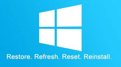 Windows 10 Refresh and Reinstall
