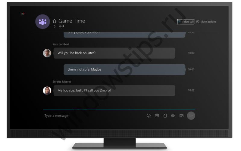 Универсальное приложение Skype приходит на Xbox One