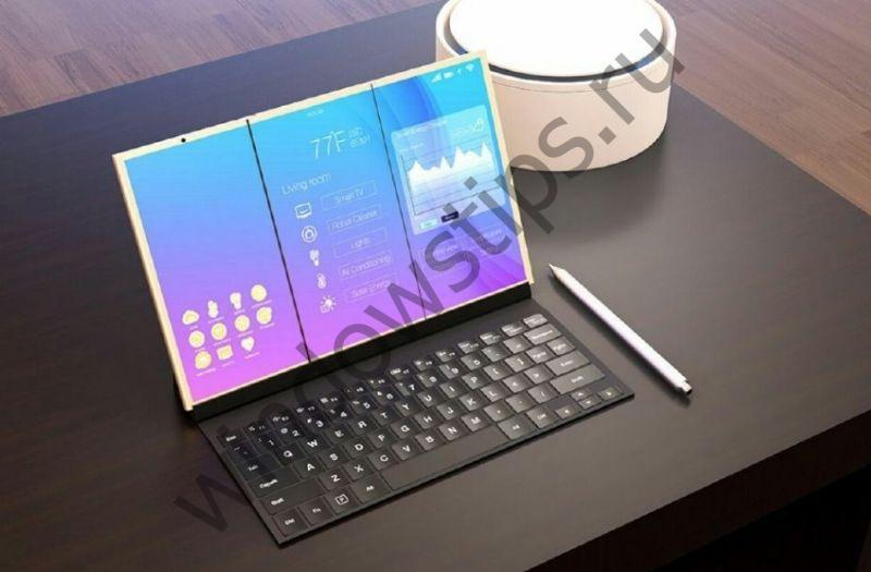 Microsoft получила патент на складной дисплей