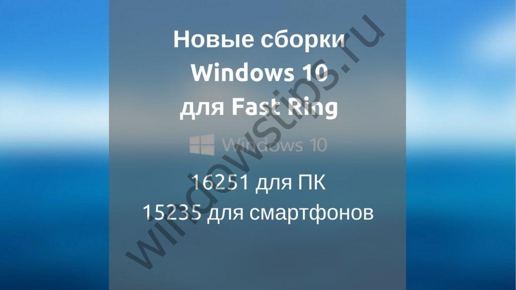 Обновления: версия 16251 для ПК, версия 15235 для мобильных устройств