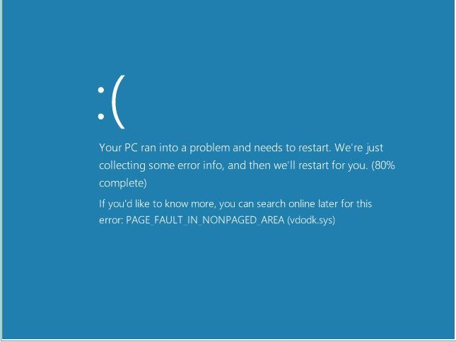 Page fault in nonpaged area — устранение ошибки