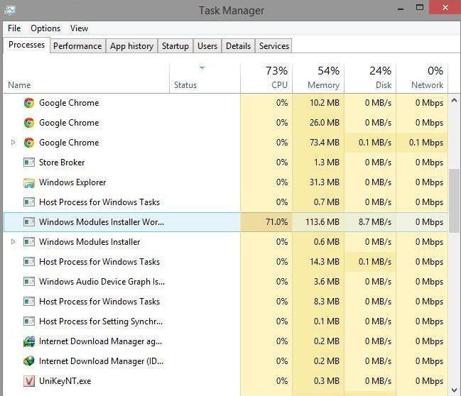 Как отключить Windows Modules Installer Worker